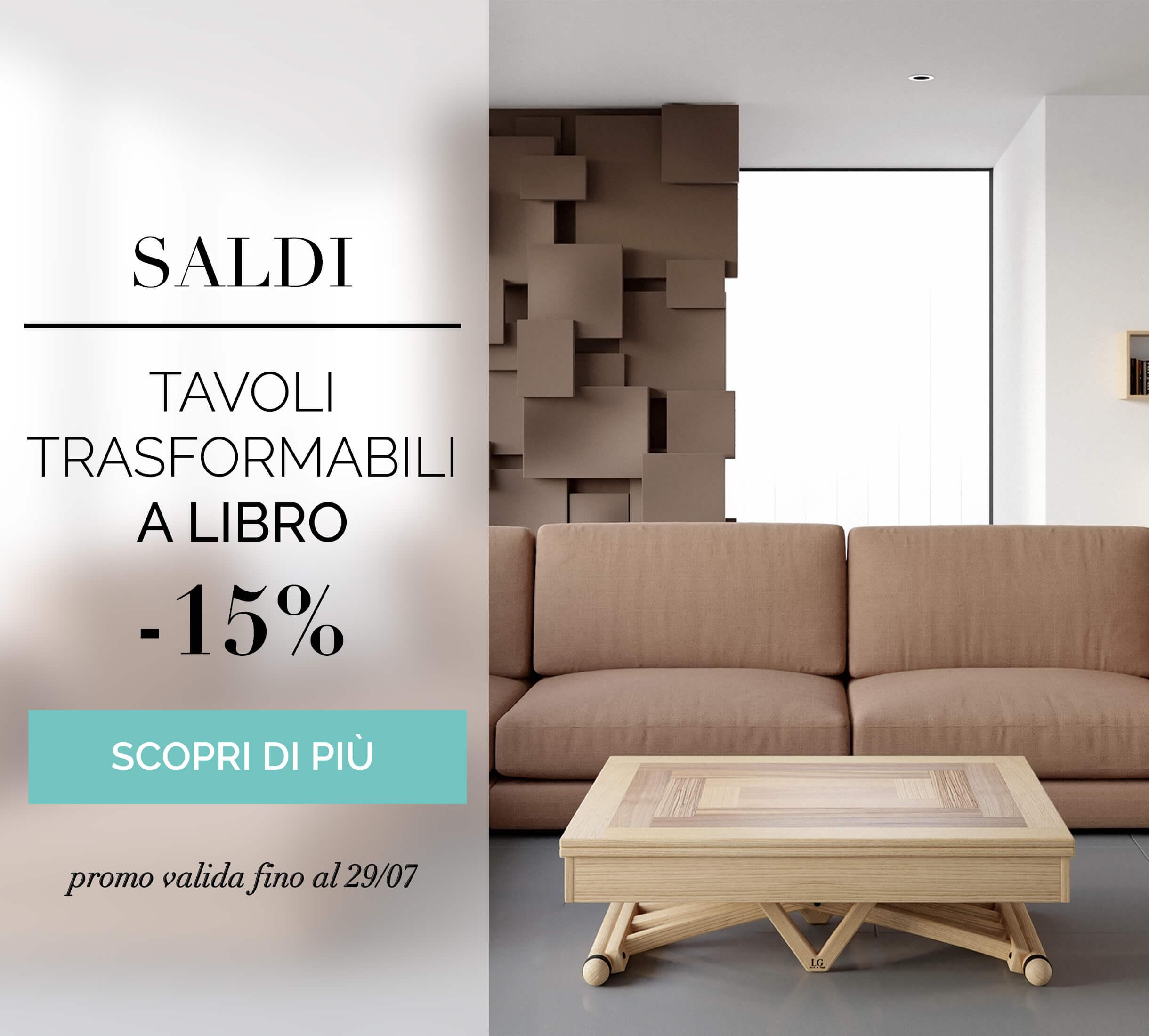 Tavoli allungabili 100% Made in Italy