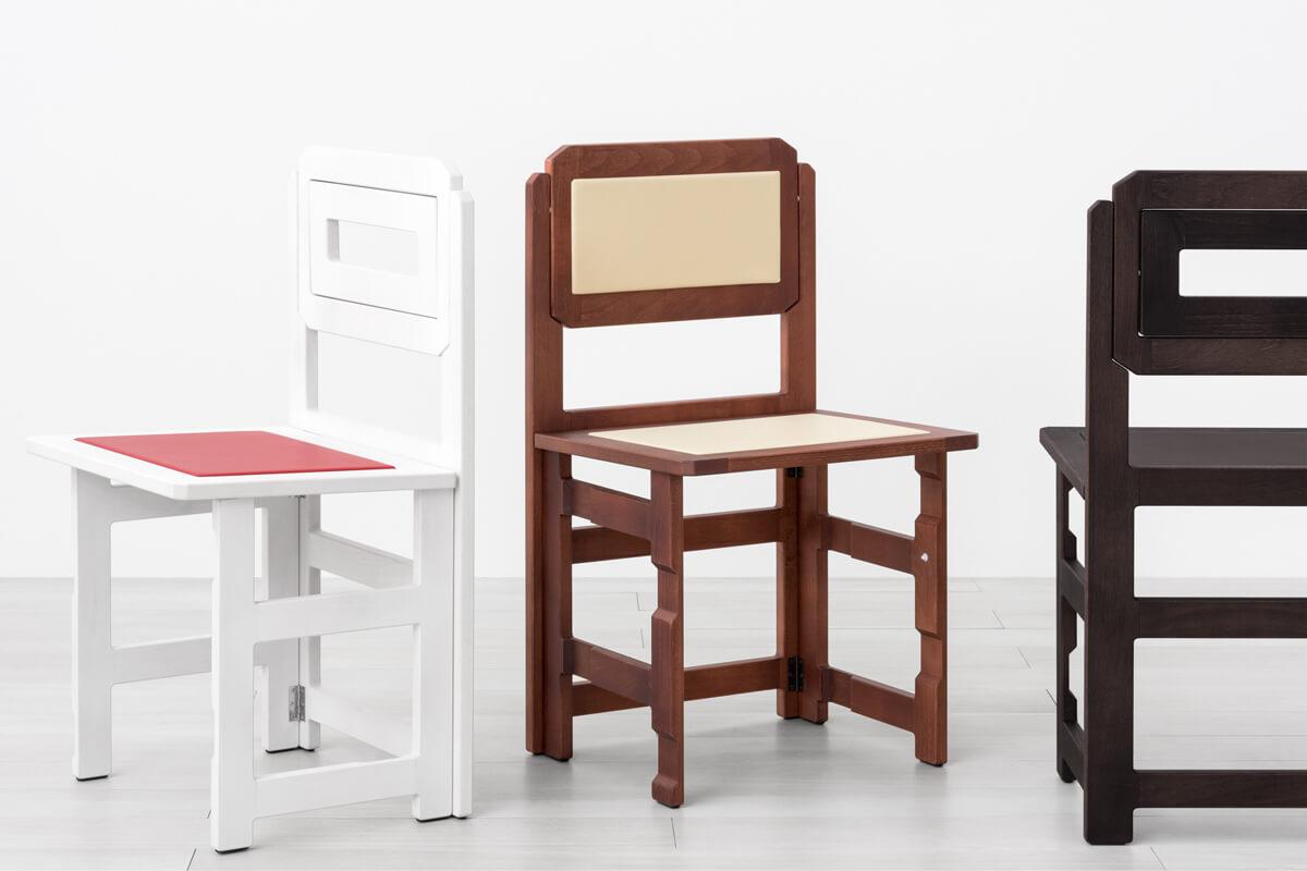 Set sedie pieghevoli salvaspazio