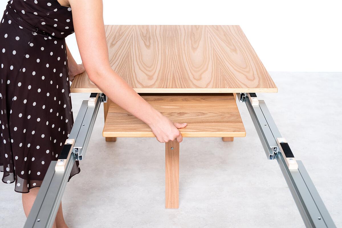 tavolo allungabile in legno con prolunghe