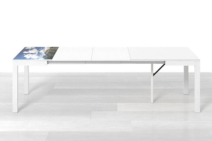 Tavolo quadrato allungabile con 3 prolunghe