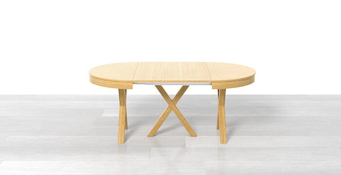 Tavolo rotondo allungabile con 1 prolunga
