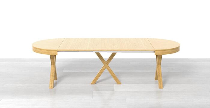 Tavolo rotondo allungabile con 2 prolunghe