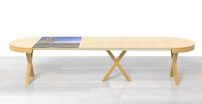 Tavolo rotondo allungabile con 3 prolunghe