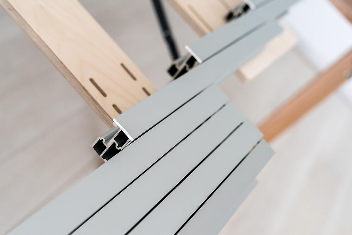 tavolo consolle allungabile 14 posti con guide in alluminio