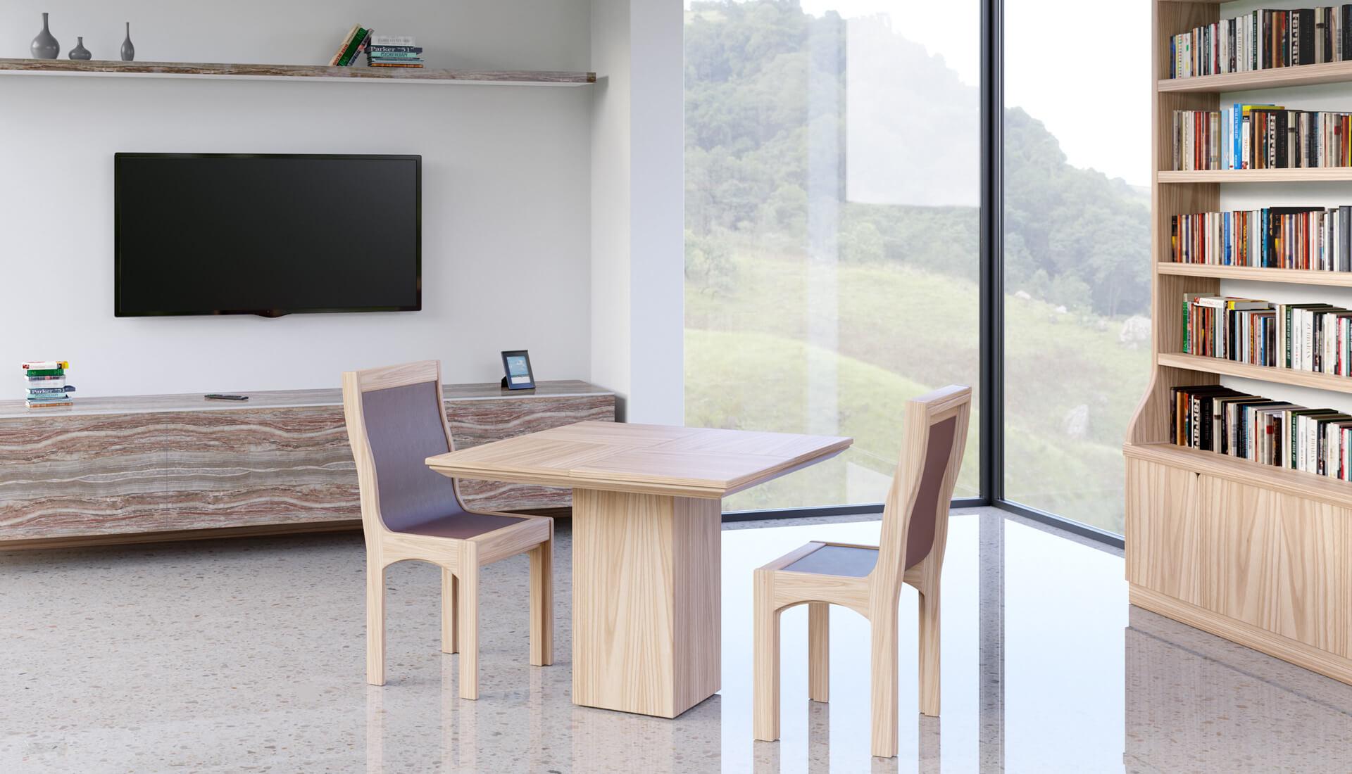 Tavolo quadrato allungabile - LG Lesmo